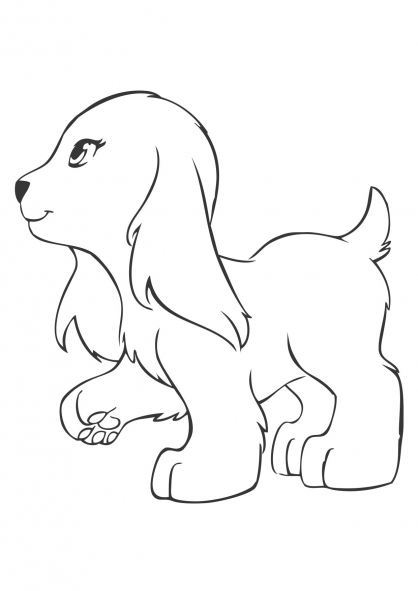 Coloriage coloriage-friends-chien_2
