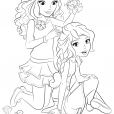 Coloriage coloriage-friends-coiffure