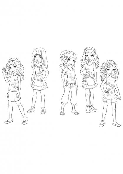 Coloriage coloriage-friends-groupe