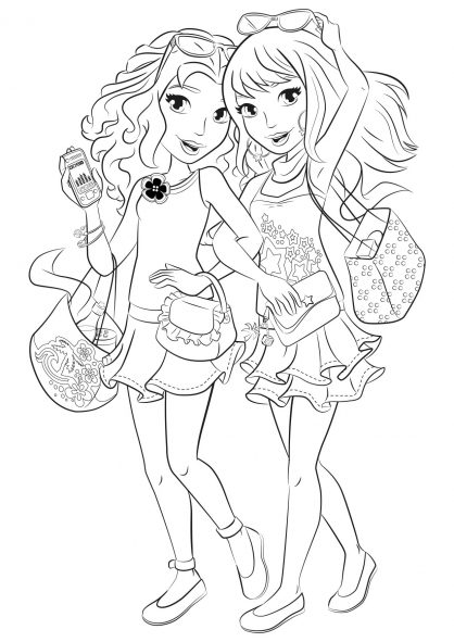 Coloriage coloriage-friends-mall