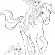 Coloriage coloriage-friends-mia-cheval_2