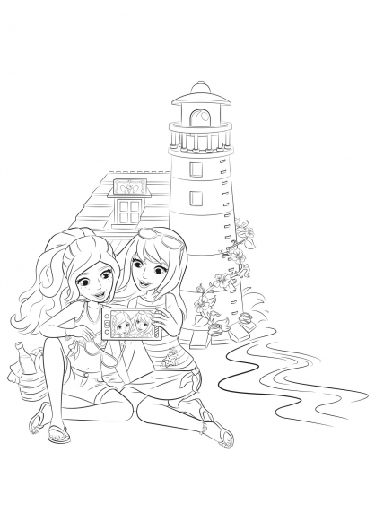 Coloriage coloriage-friends-selfie