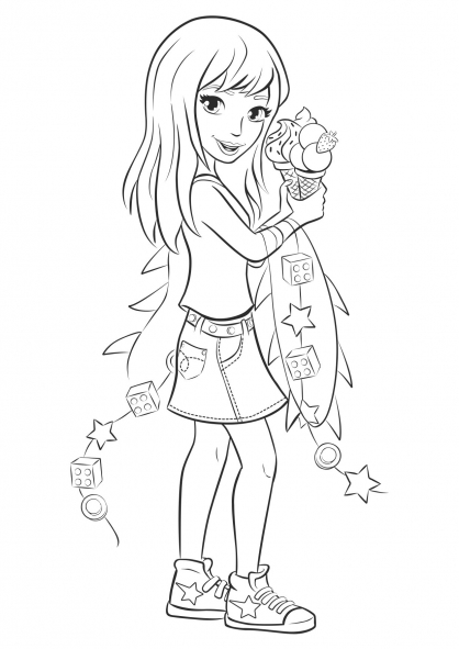 Coloriage coloriage-friends-stephanie