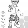 Coloriage Les Chroniques de Matt Hatter : Alfred Hatter