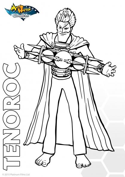 Coloriage Les Chroniques de Matt Hatter : Lord Tenoroc