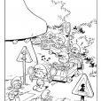 Coloriage Les Schtroumpfs : Circulation