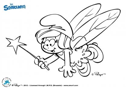 Coloriage les schtroumpfs f e coloriage les schtroumpfs coloriage dessins animes - Coloriage stroumpf ...