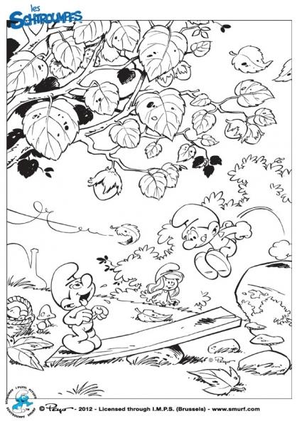 Coloriage les schtroumpfs jeux coloriage les schtroumpfs coloriage dessins animes - Coloriage stroumpf ...