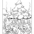 Coloriage Les Schtroumpfs : Noël