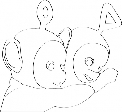 Coloriage Teletubbies 26