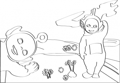 Coloriage Teletubbies 29