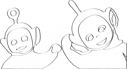 Coloriage Teletubbies 74