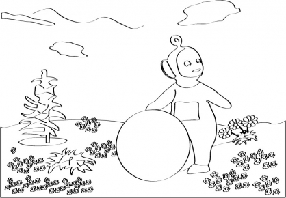 Coloriage Teletubbies 91
