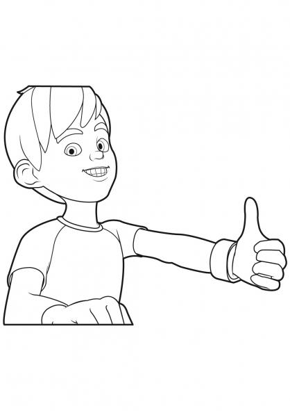 Coloriage Linus et Boom 15