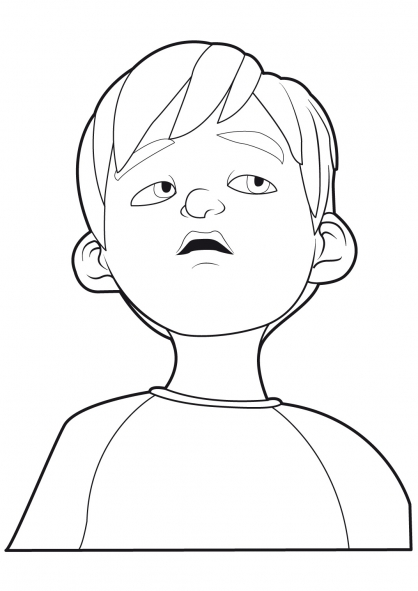 Coloriage Linus et Boom 20