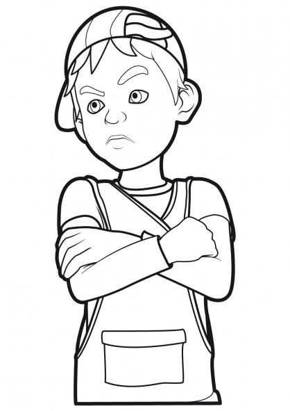 Coloriage Linus et Boom 6