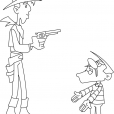 Coloriage Lucky Luke 10