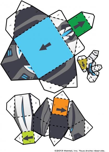 Coloriage Max Steel : La figurine Mode Turbo Puissance planche 2