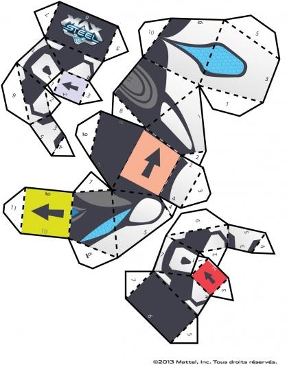 Coloriage Max Steel : La figurine Mode Turbo Puissance planche 3