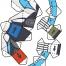 Coloriage Max Steel : La figurine Mode Turbo Puissance planche 4