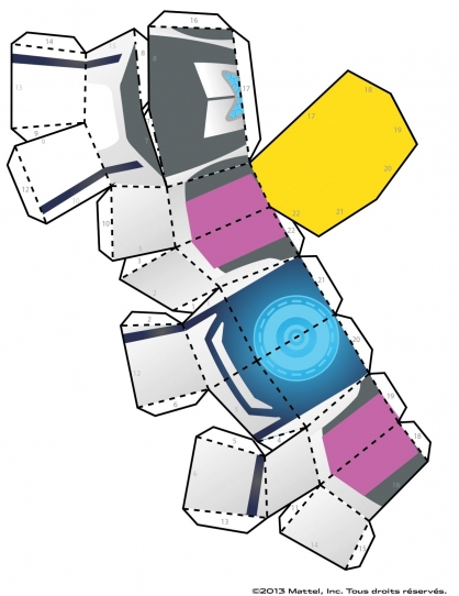 Coloriage Max Steel : La Maquette Steel planche 1