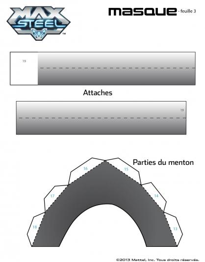 Coloriage Max Steel : Le Masque de Max Steel planche 3