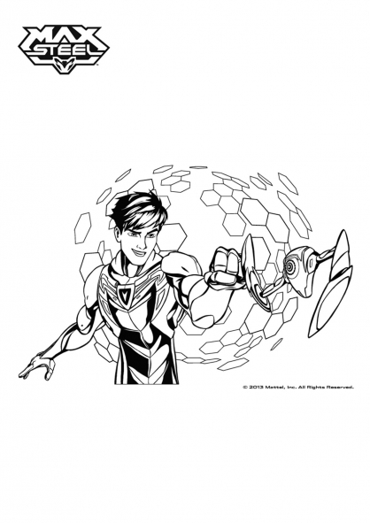 Coloriage Max Steel : Max Steel