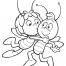 Coloriage Le bisou de Maya l'abeille