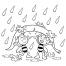Coloriage Maya et Willy contre la pluie