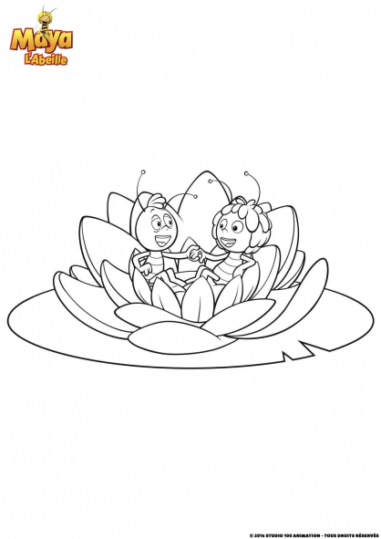 Coloriage maya l 39 abeille et willy coloriage maya l - Maya l abeille coloriage ...