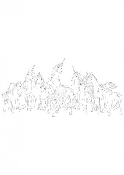 Coloriage les-licornes