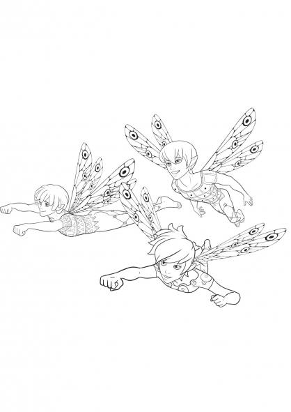 Coloriage trois-elfes