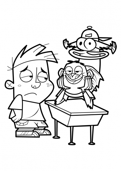 Coloriage Mon copain de classe est un singe 11