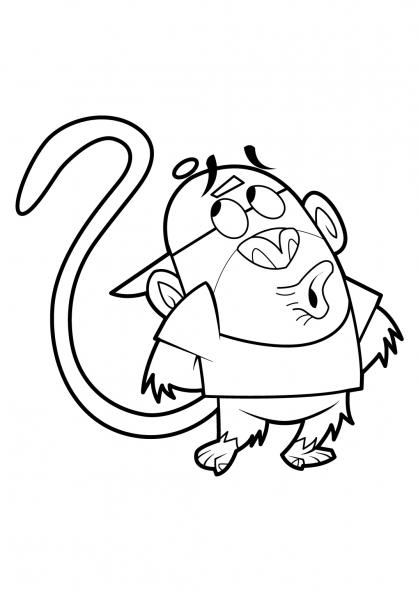 Coloriage Mon copain de classe est un singe 14