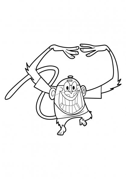 Coloriage Mon copain de classe est un singe 18