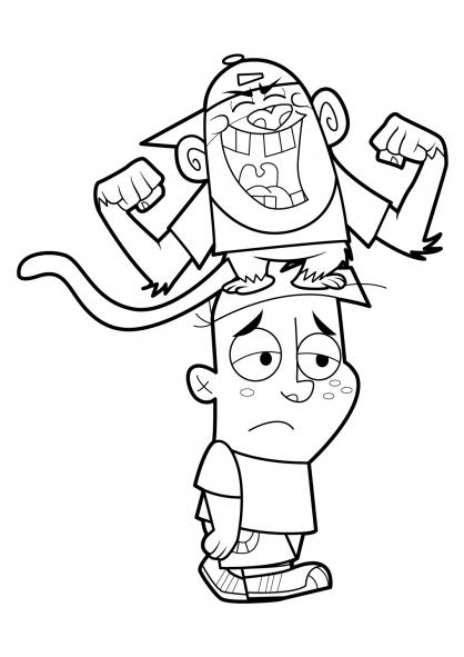 Coloriage Mon copain de classe est un singe 19