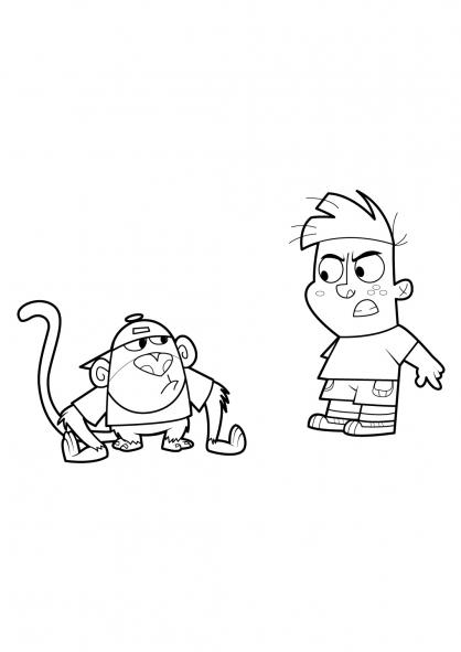Coloriage Mon copain de classe est un singe 20