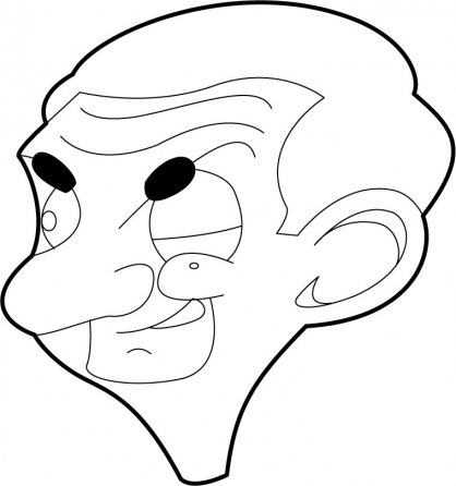 Coloriage Mr Bean 3