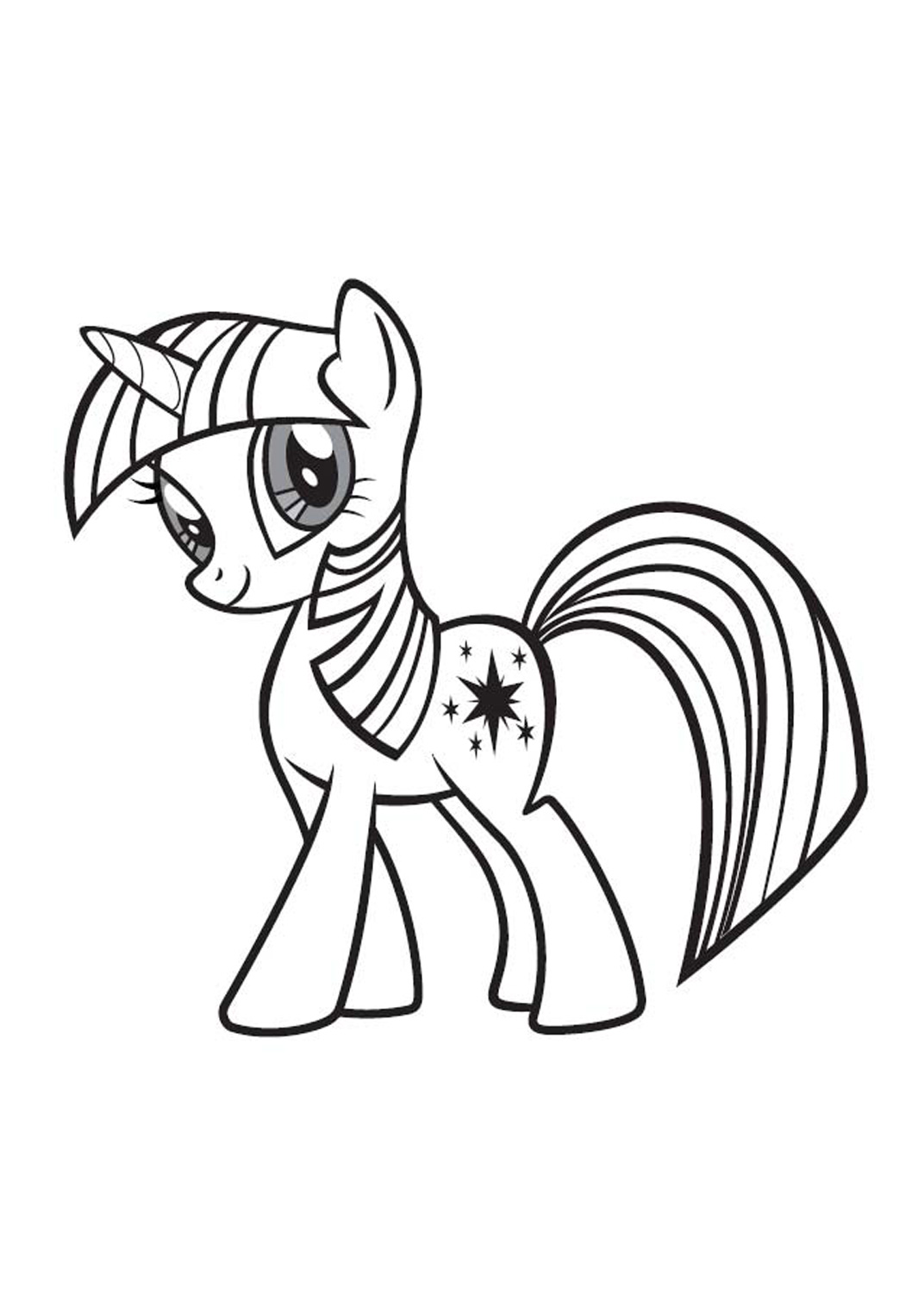 My Little Pony Anime Coloring Pages : Anime pony colouring pages