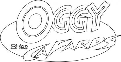 Coloriage Oggy et les cafards 10