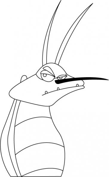 Coloriage oggy et les cafards 2 coloriage oggy et les cafards coloriage dessins animes - Dessin de cafard ...