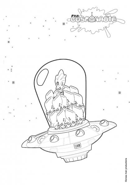 Coloriage P'tit cosmonaute 18