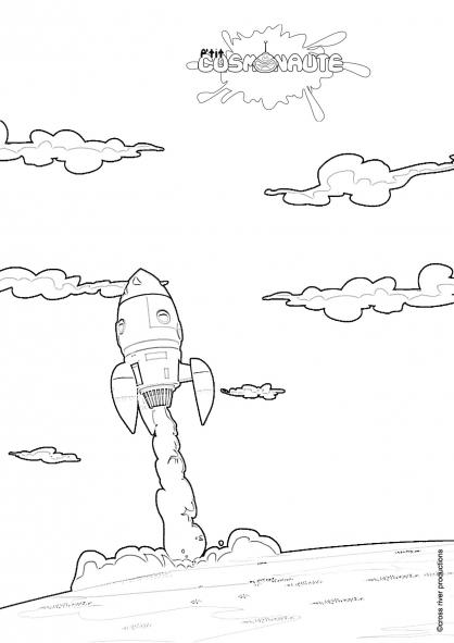 Coloriage P'tit cosmonaute 8