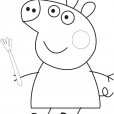 Coloriage Peppa 1