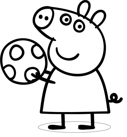 Pin coloriage ski on pinterest - Coloriage peppa pig ...