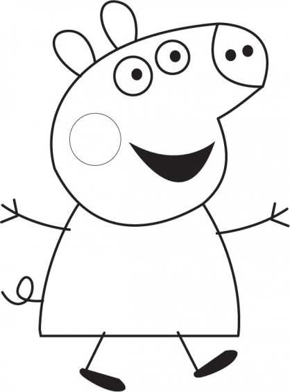 Coloriage Peppa 2