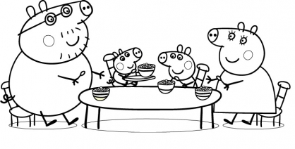 Coloriage Peppa 22