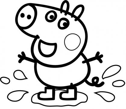 DIBUJOS PARA COLOREAR DE PEPPA PIG JUGANDO CON EL BALÓN Dibujos Peppa Pig
