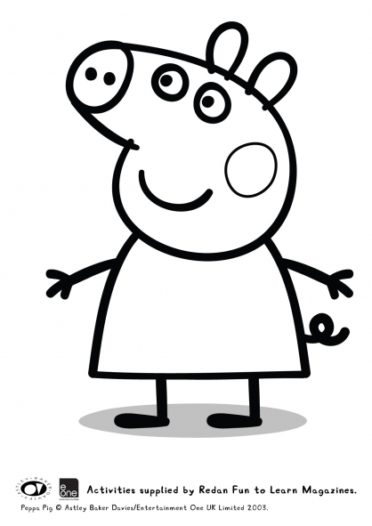 Coloriage Peppa 43