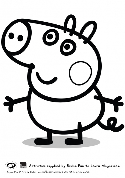 Coloriage Peppa 44